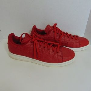 Adidas Stan Smith Red Textured Shoes Sneakers